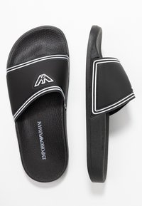Emporio Armani - Pantofle - black/white - 2