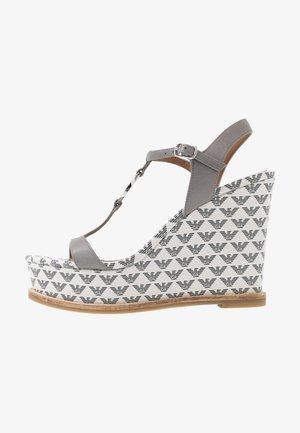 Sandály na vysokém podpatku - antracit/ghiaccio