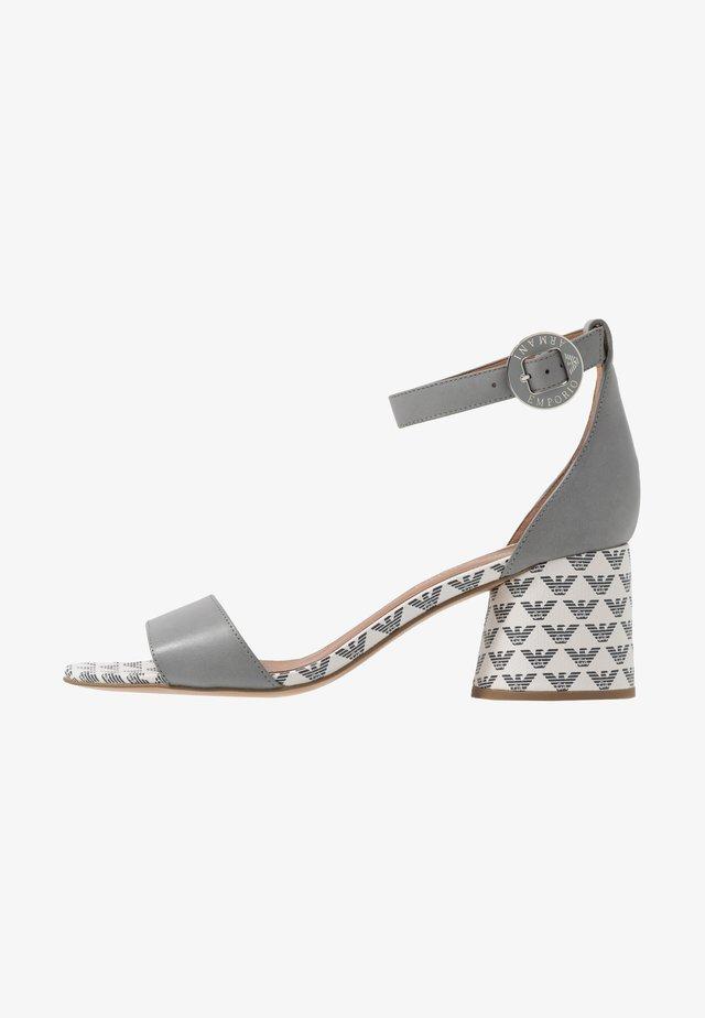 Sandaalit nilkkaremmillä - antracit/ghiaccio