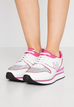 Sneakers laag - white/silver/pink