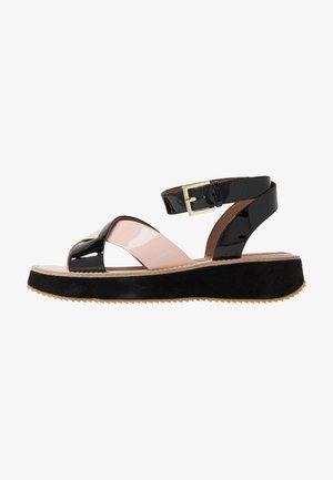 Platform sandals - nude/black