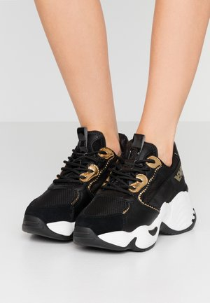 Sneakers laag - black/light gold