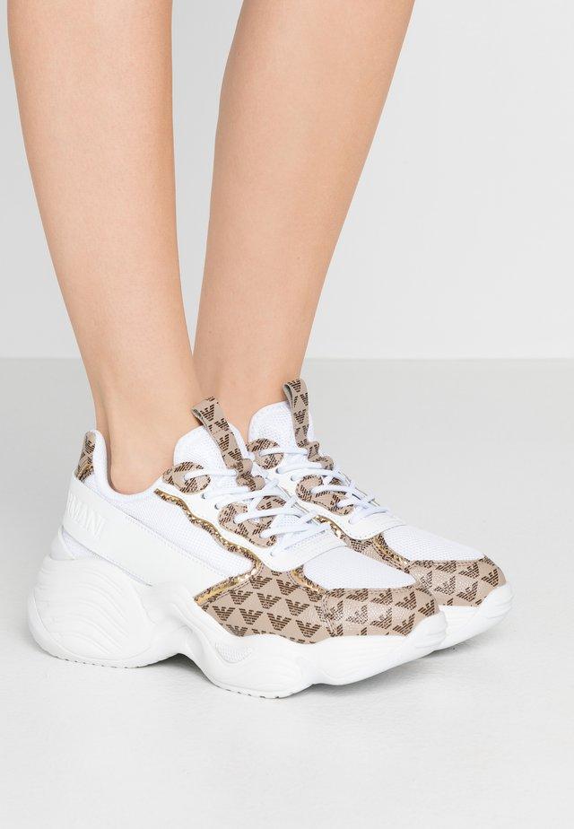Sneakers - ecru/testa di moro/whit/gold