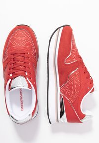 Emporio Armani - Sneakers laag - red/silver - 3