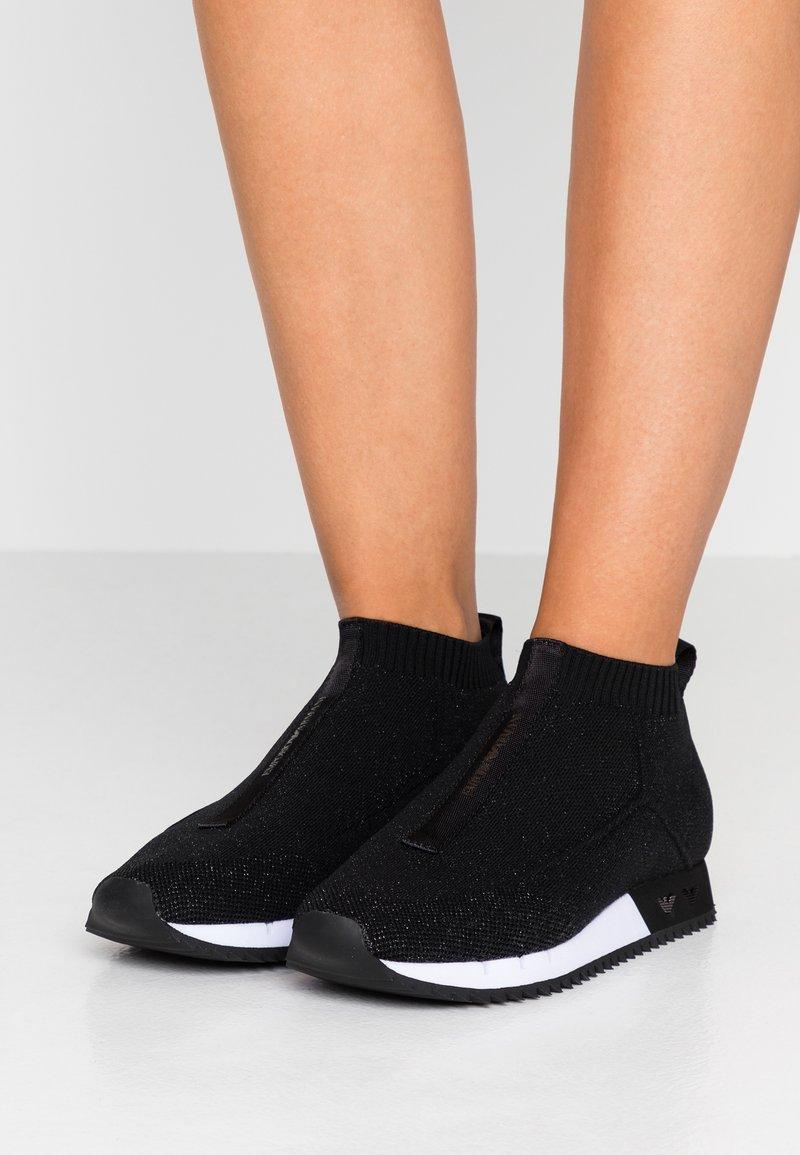Emporio Armani - Sneakers high - black