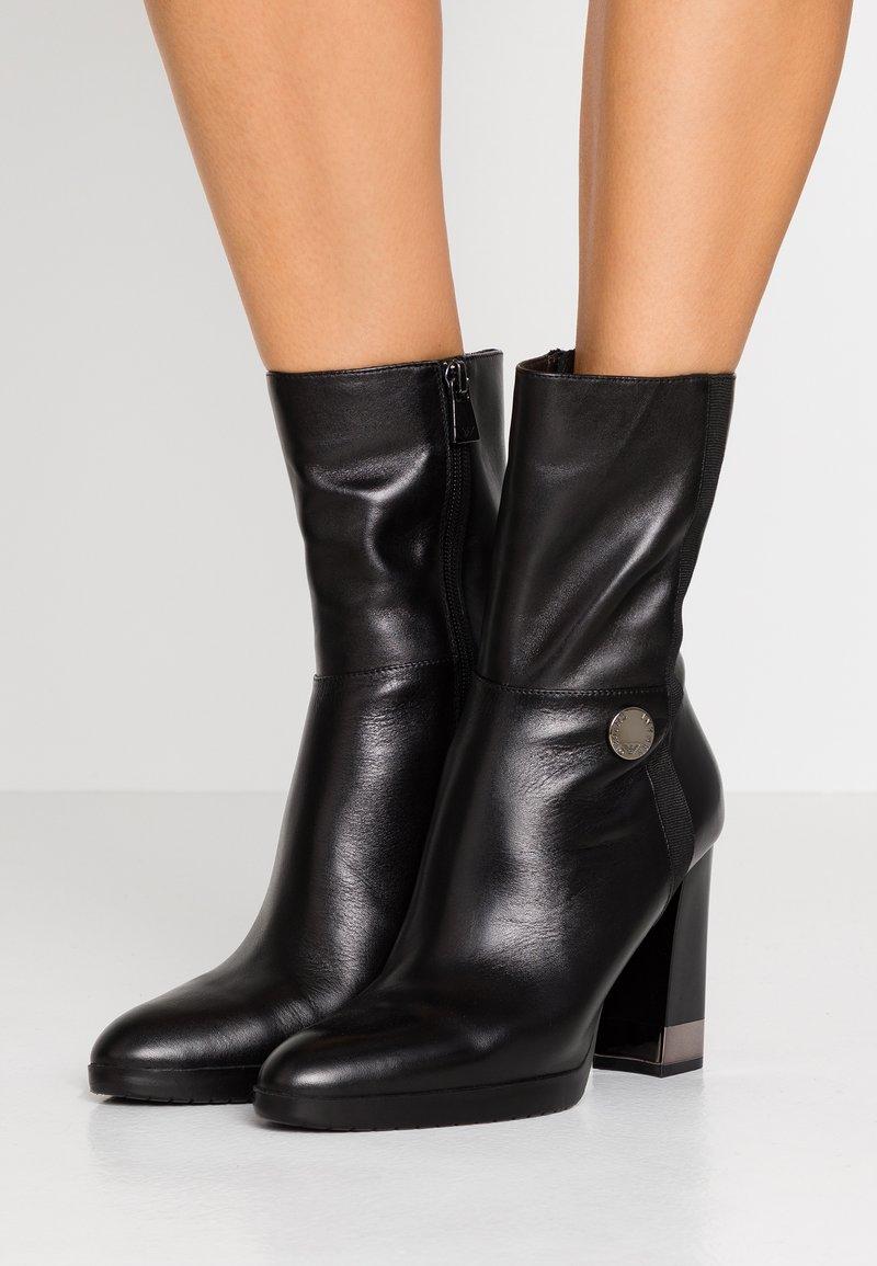 Emporio Armani - FRIDA - High heeled ankle boots - black