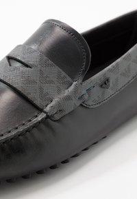 Emporio Armani - Moccasins - black/grey - 5