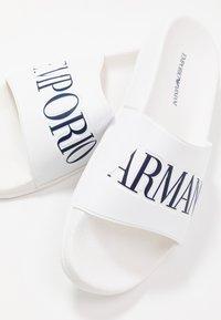 Emporio Armani - ZADAR - Mules - white/night - 5