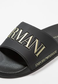 Emporio Armani - ZADAR - Mules - black/gold - 6