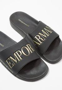 Emporio Armani - ZADAR - Mules - black/gold - 5