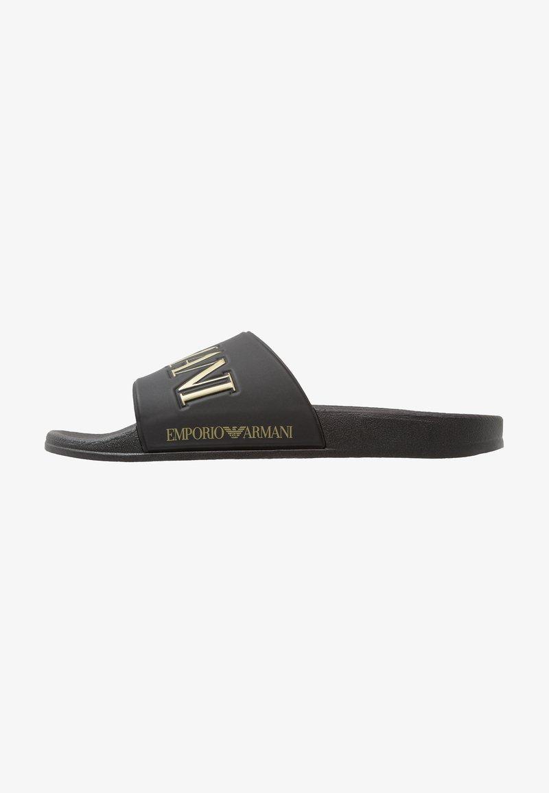 Emporio Armani - ZADAR - Muiltjes - black/gold
