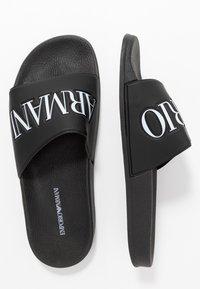 Emporio Armani - ZADAR - Sandaler - black/white - 1