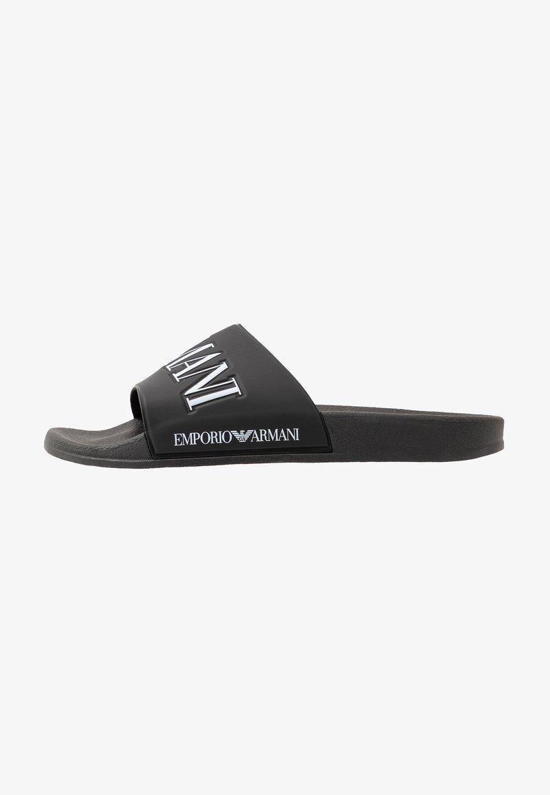 Emporio Armani - ZADAR - Pantolette flach - black/white