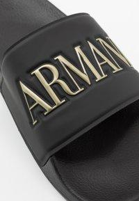 Emporio Armani - Mules - black/gold - 6