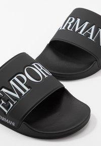 Emporio Armani - Mules - black/white - 5
