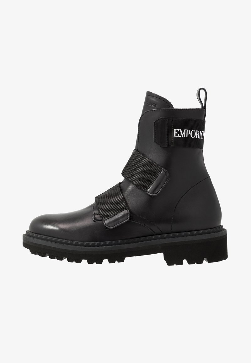 Emporio Armani - Classic ankle boots - black/white