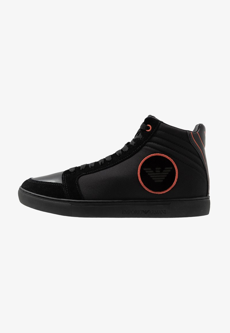 Emporio Armani - High-top trainers - black/ginger