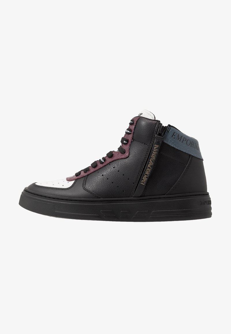 Emporio Armani - Zapatillas altas - black/white/vineyard