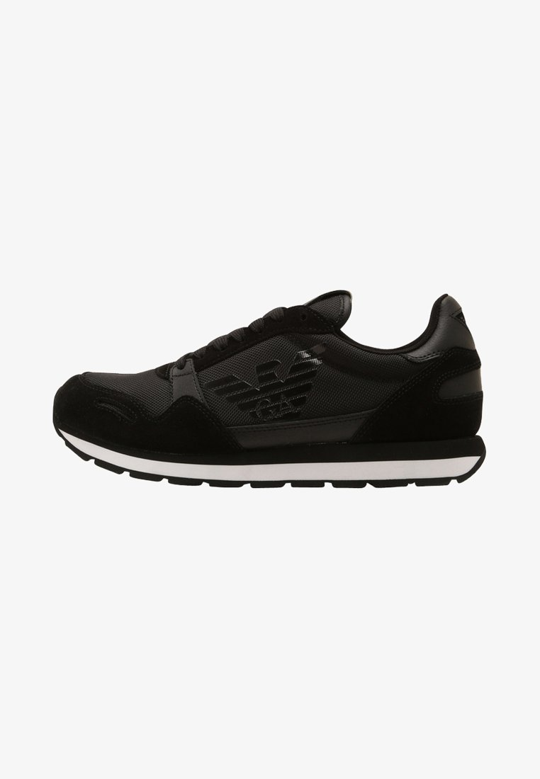 Emporio Armani - LACE UP - Sneakers laag - black