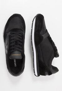 Emporio Armani - ZONE - Baskets basses - black