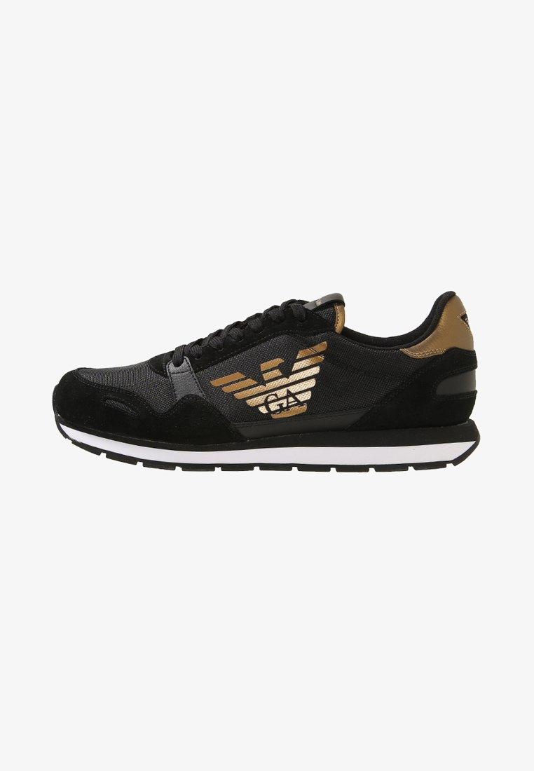 Emporio Armani - Trainers - black/gold