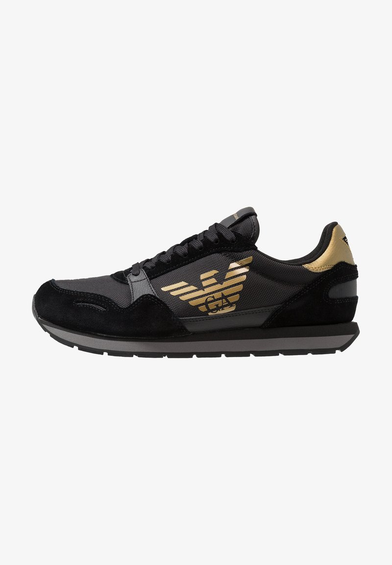 Emporio Armani - Baskets basses - black/gold