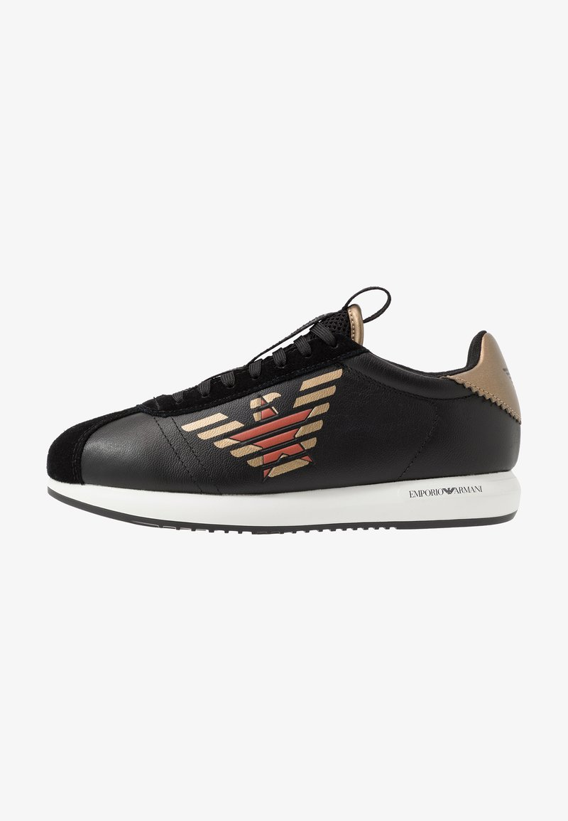 Emporio Armani - Sneaker low - black/gold