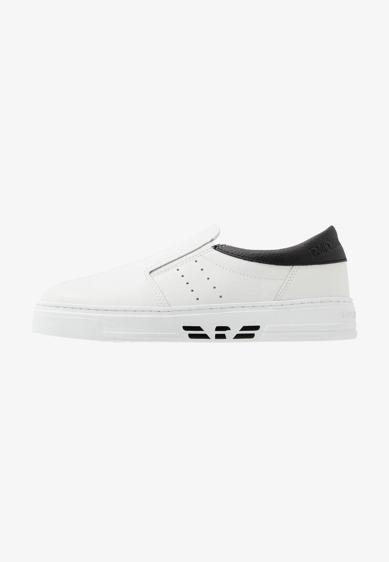 Emporio Armani - Półbuty wsuwane - white/black