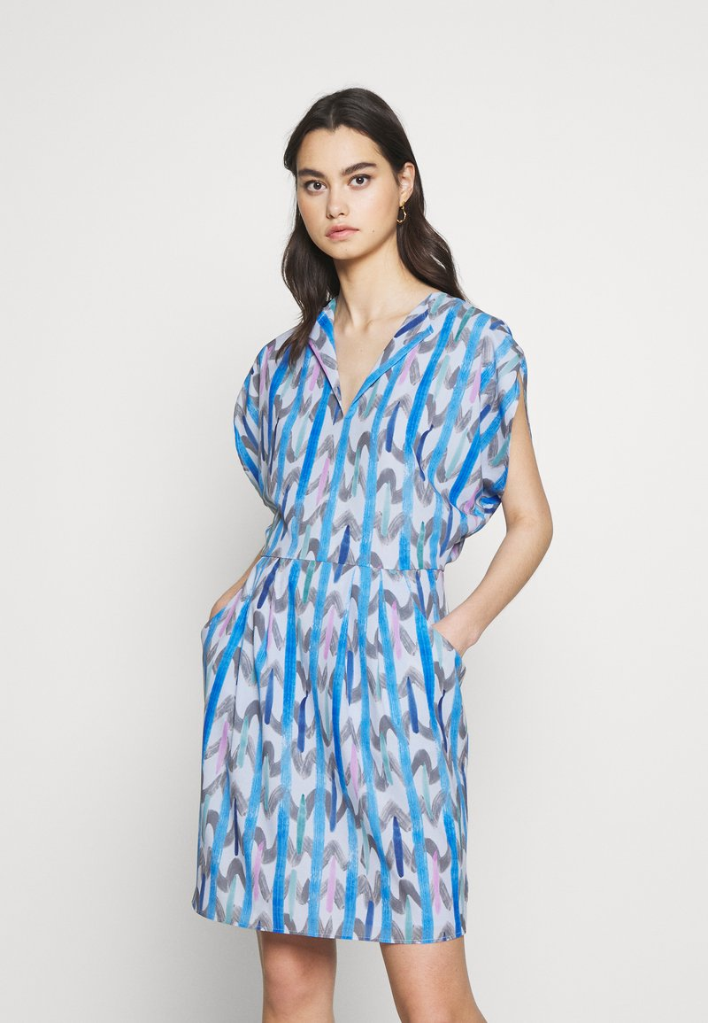 Emporio Armani - DRESS - Day dress - blue