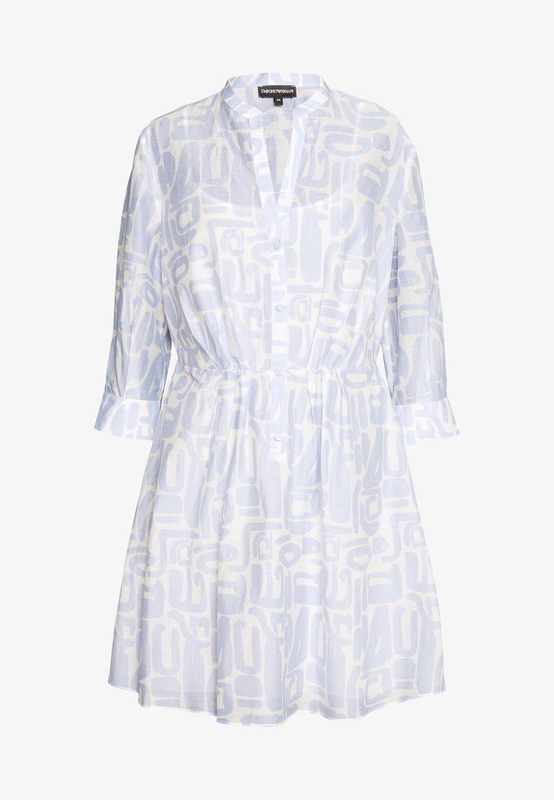 Emporio Armani - DRESS - Košilové šaty - blue