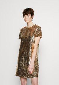 Emporio Armani - DRESS - Cocktail dress / Party dress - gold - 0