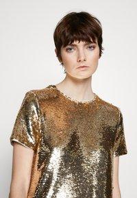 Emporio Armani - DRESS - Cocktail dress / Party dress - gold - 3
