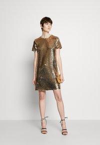Emporio Armani - DRESS - Cocktail dress / Party dress - gold - 1