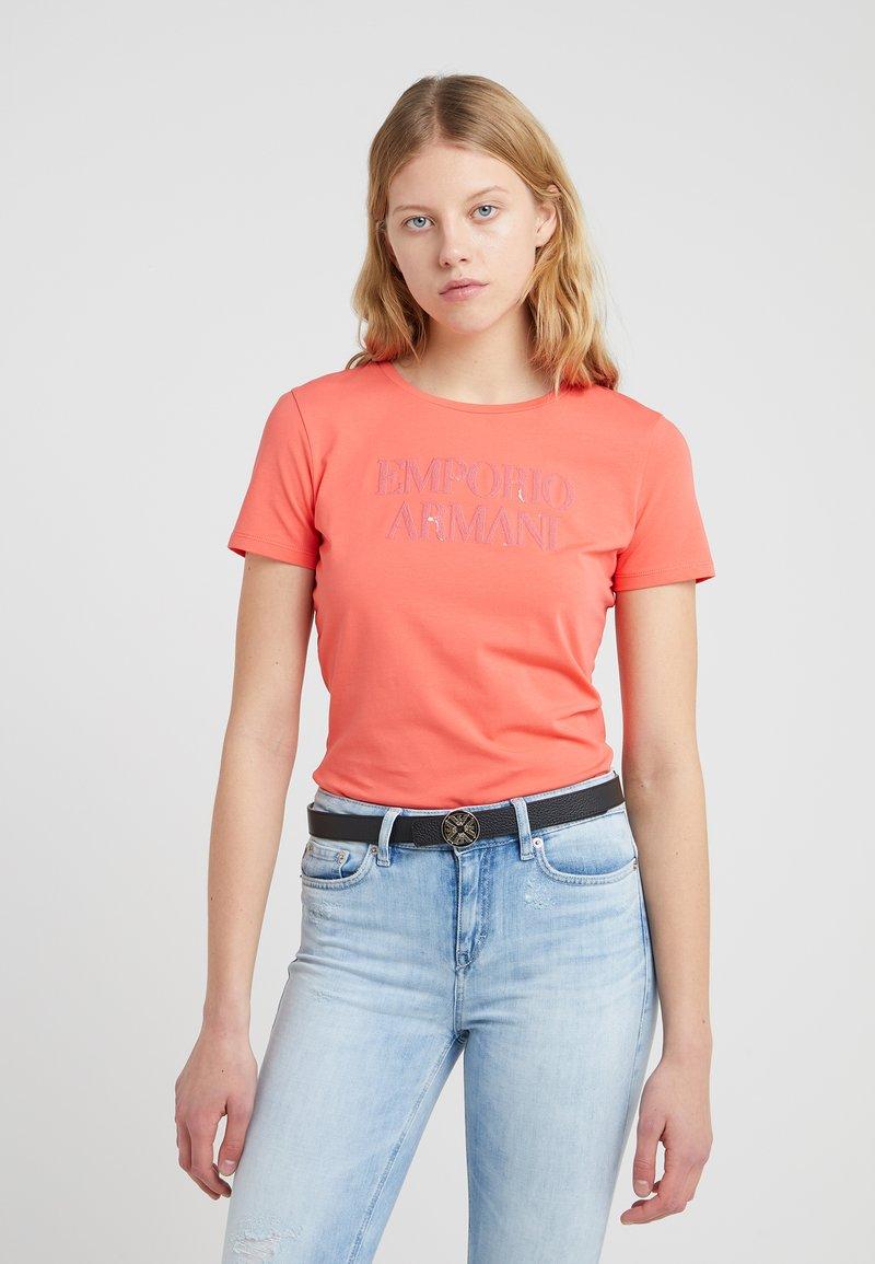 Emporio Armani - T-Shirt print - coral