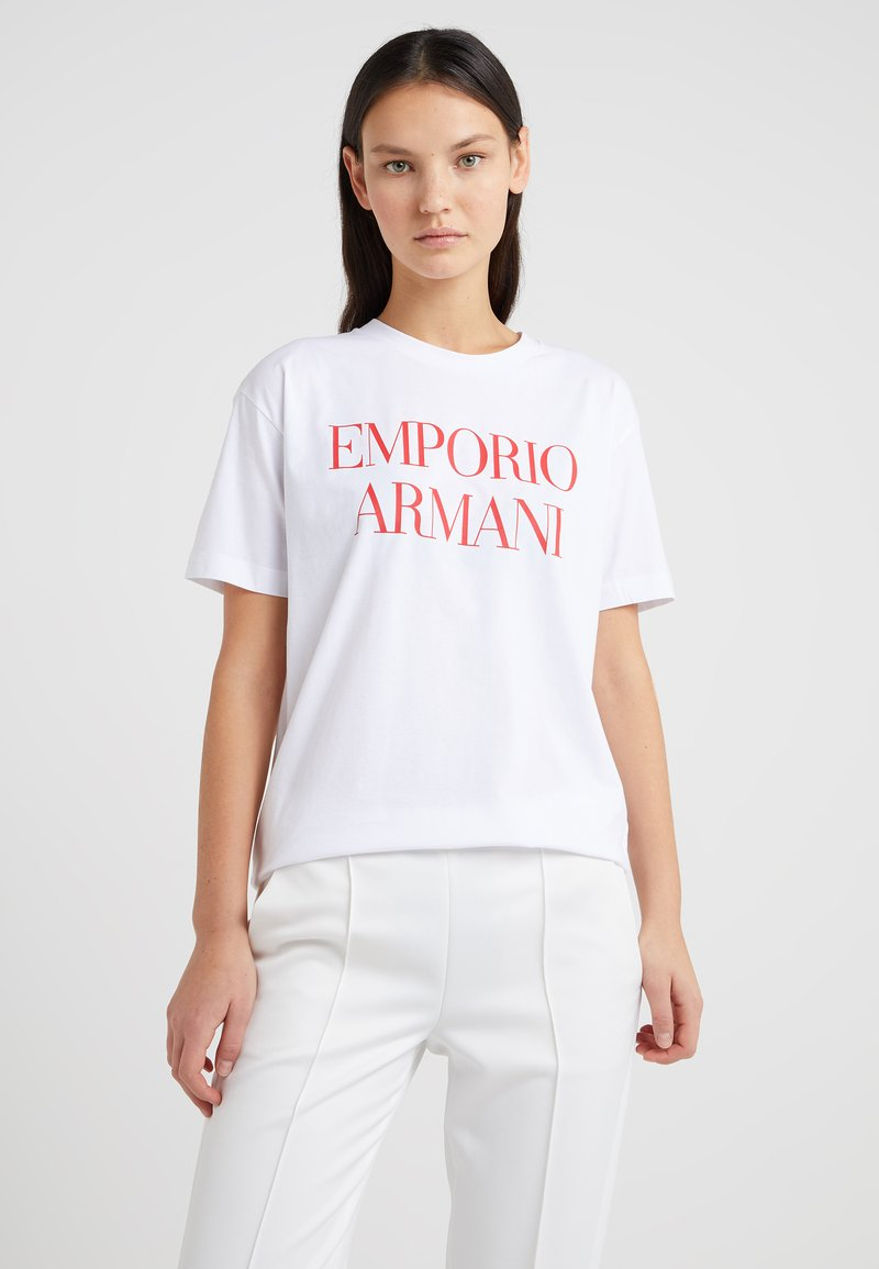 Emporio Armani - T-shirt print - white/red