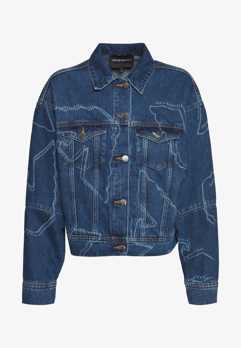 Emporio Armani - BLOUSON JACKET - Džínová bunda - blue denim