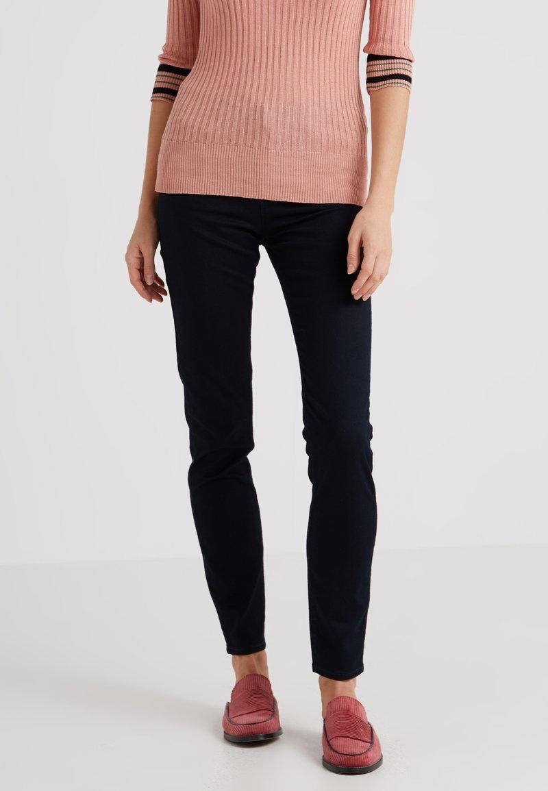 Emporio Armani - Trousers - dark blue denim
