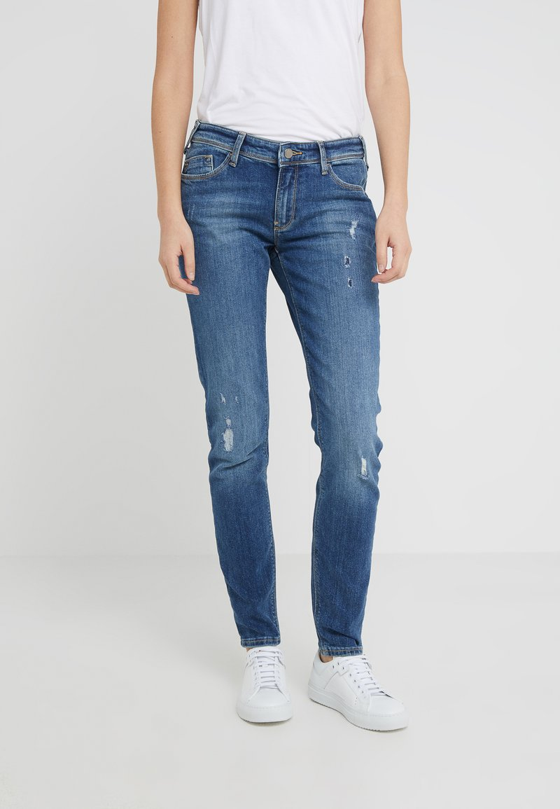 Emporio Armani - Jeansy Skinny Fit - mid blue denim