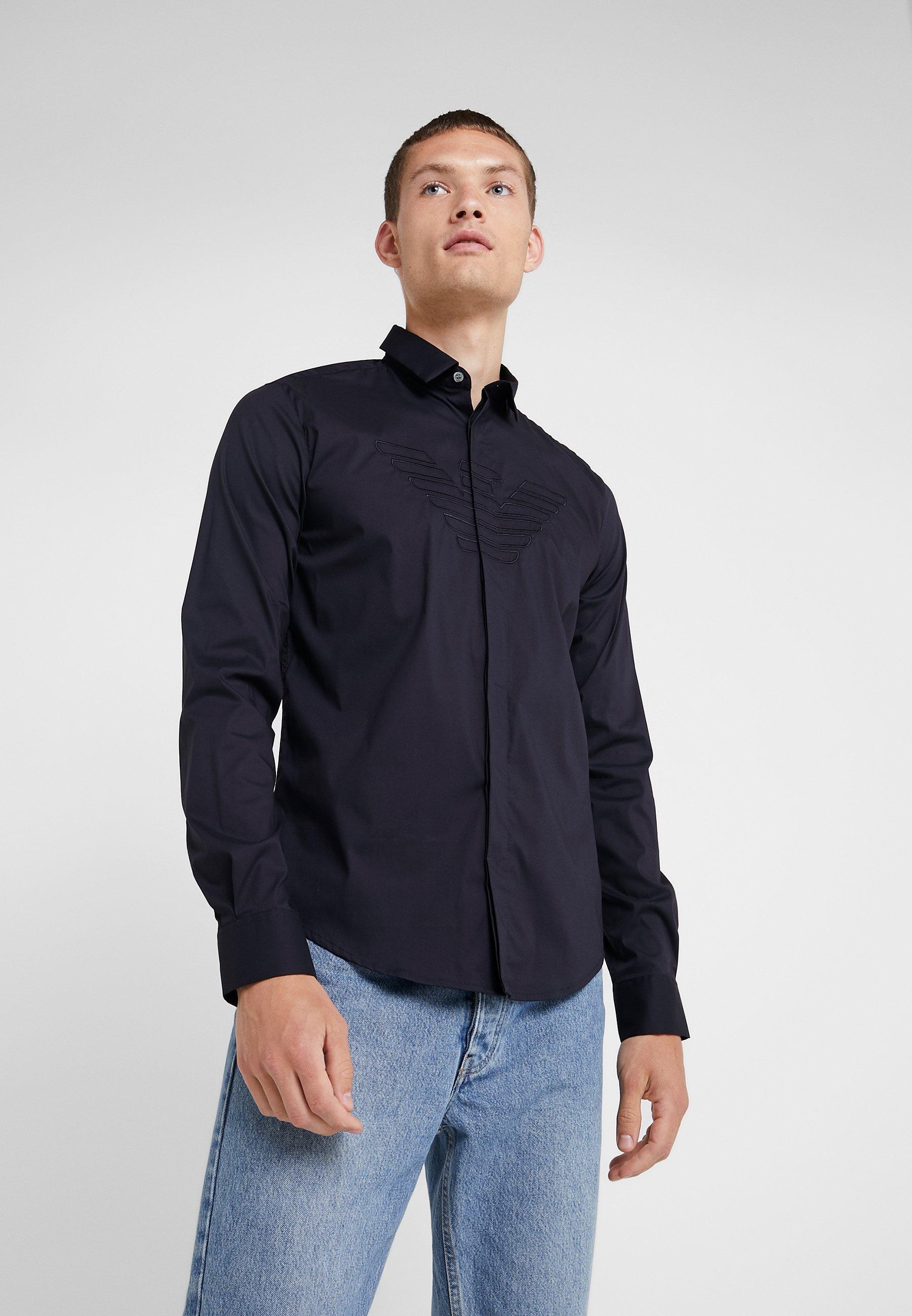 FitChemise Blue Emporio Camicia Navy Armani Slim clKTJ3F1