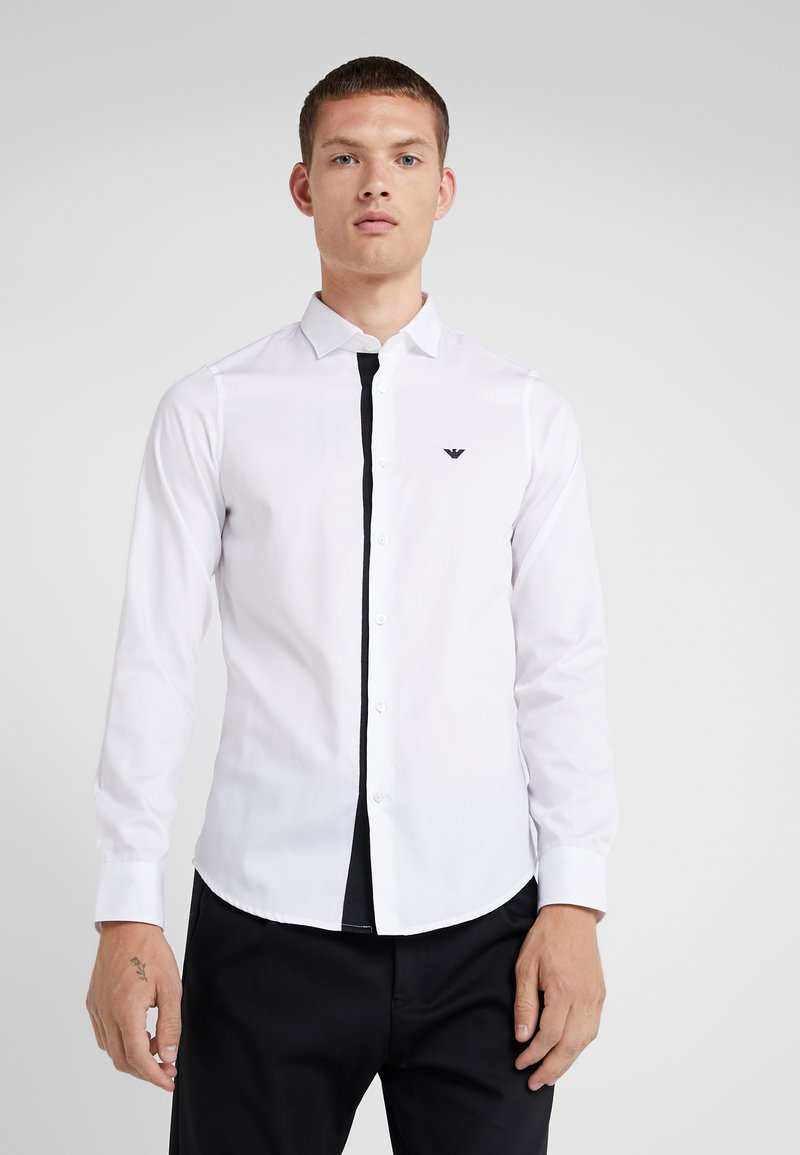 Emporio Armani - CAMICIA SLIM FIT - Formal shirt - bianco ottico