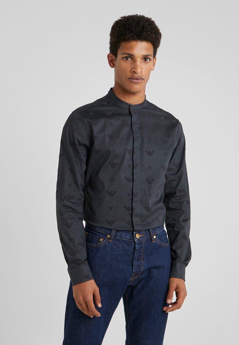 Emporio Armani - ALLOVER PRINT  - Košile - antracite