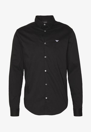 EXCLUSIVE CONTRAST LOGO - Shirt - black