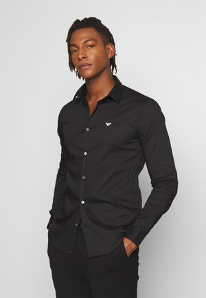 EXCLUSIVE CONTRAST LOGO - Camicia - black
