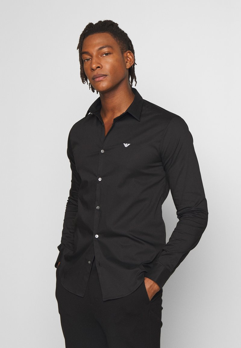 Emporio Armani - EXCLUSIVE CONTRAST LOGO - Shirt - black