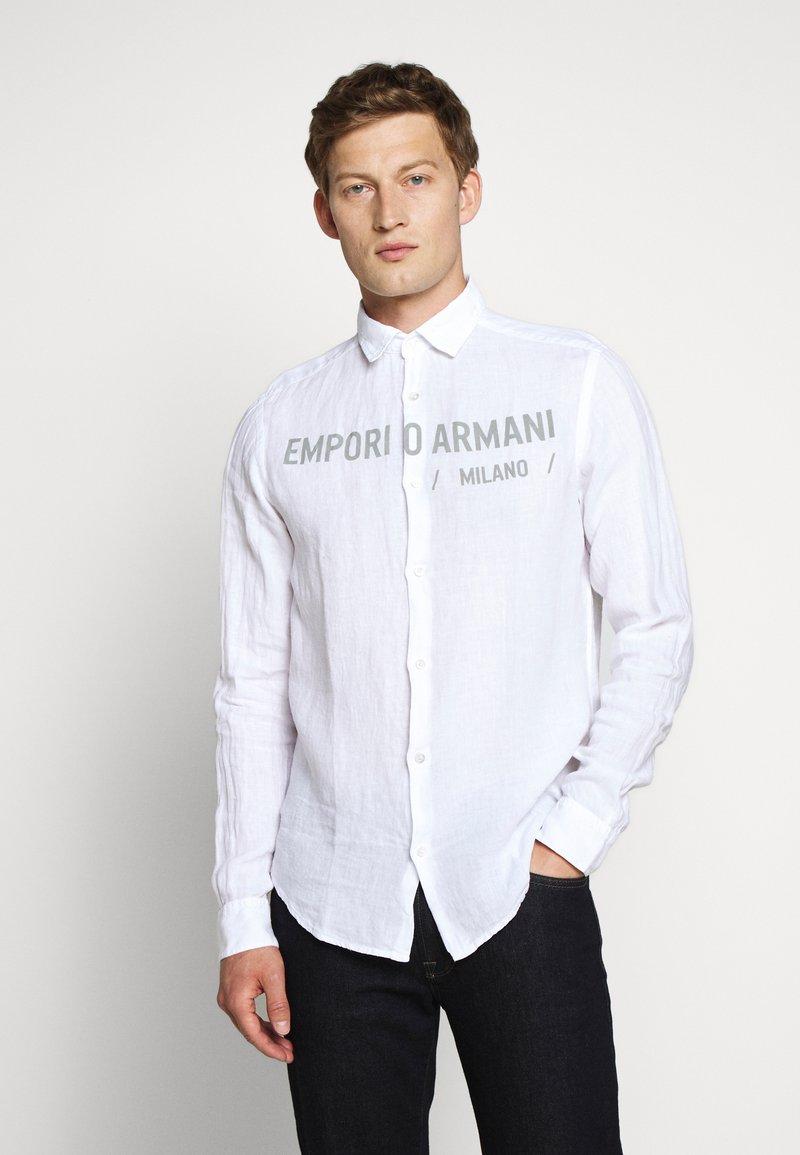 Emporio Armani - CAMICIA - Chemise - bianco ottico