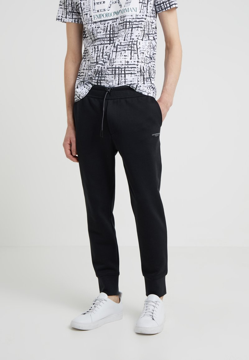 Emporio Armani - TROUSER - Tracksuit bottoms - black