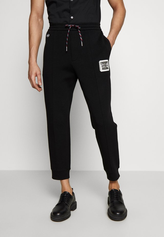 PANTALONI TESSUTO - Teplákové kalhoty - black