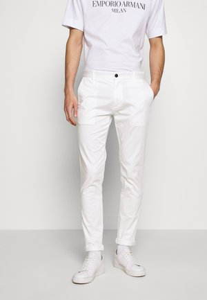 PANTALONI TESSUTO - Chino kalhoty - bianco neve