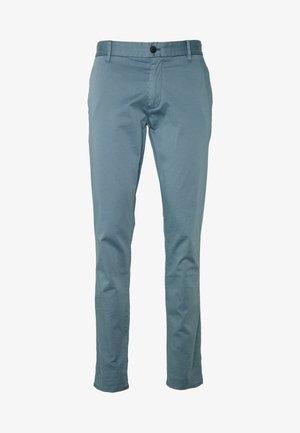 PANTALONI TESSUTO - Pantalones chinos - azzurro fumo