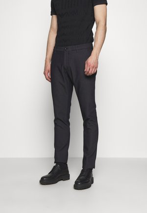 PANTALONI TESSUTO - Pantalon classique - blu navy